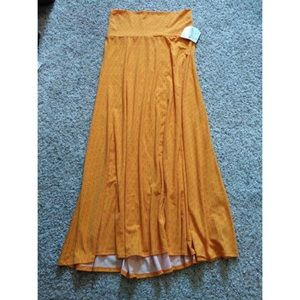 NWT LulaRoe Maxi Skirt Orange Arrow